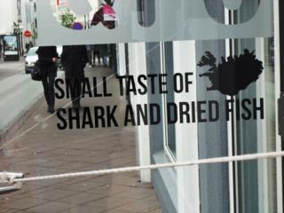 Iceland small taste of shark
